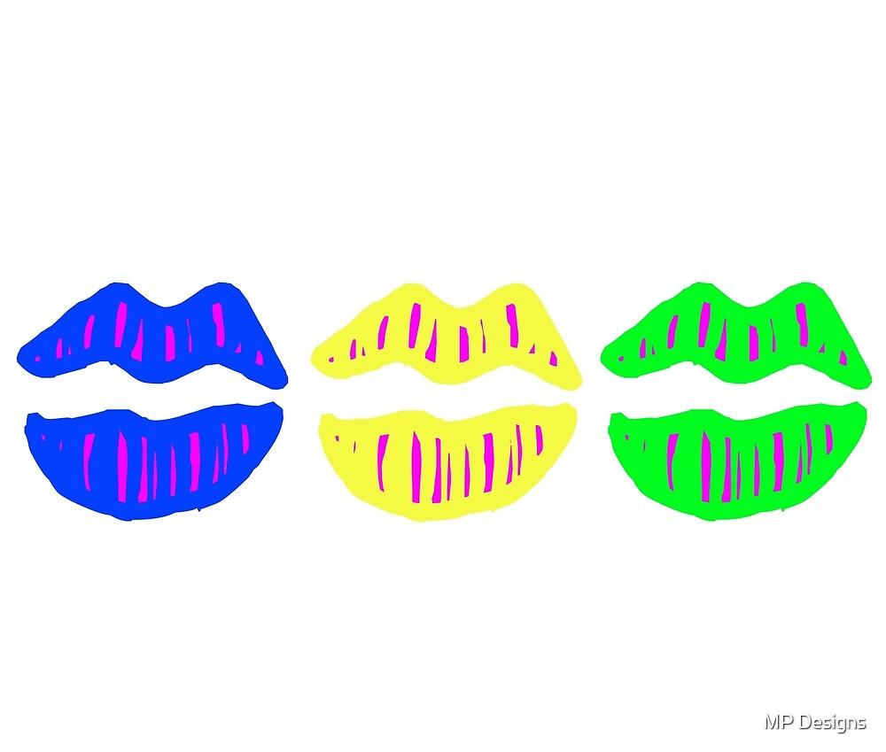 Lips (Neon) by Marla Perelmuter