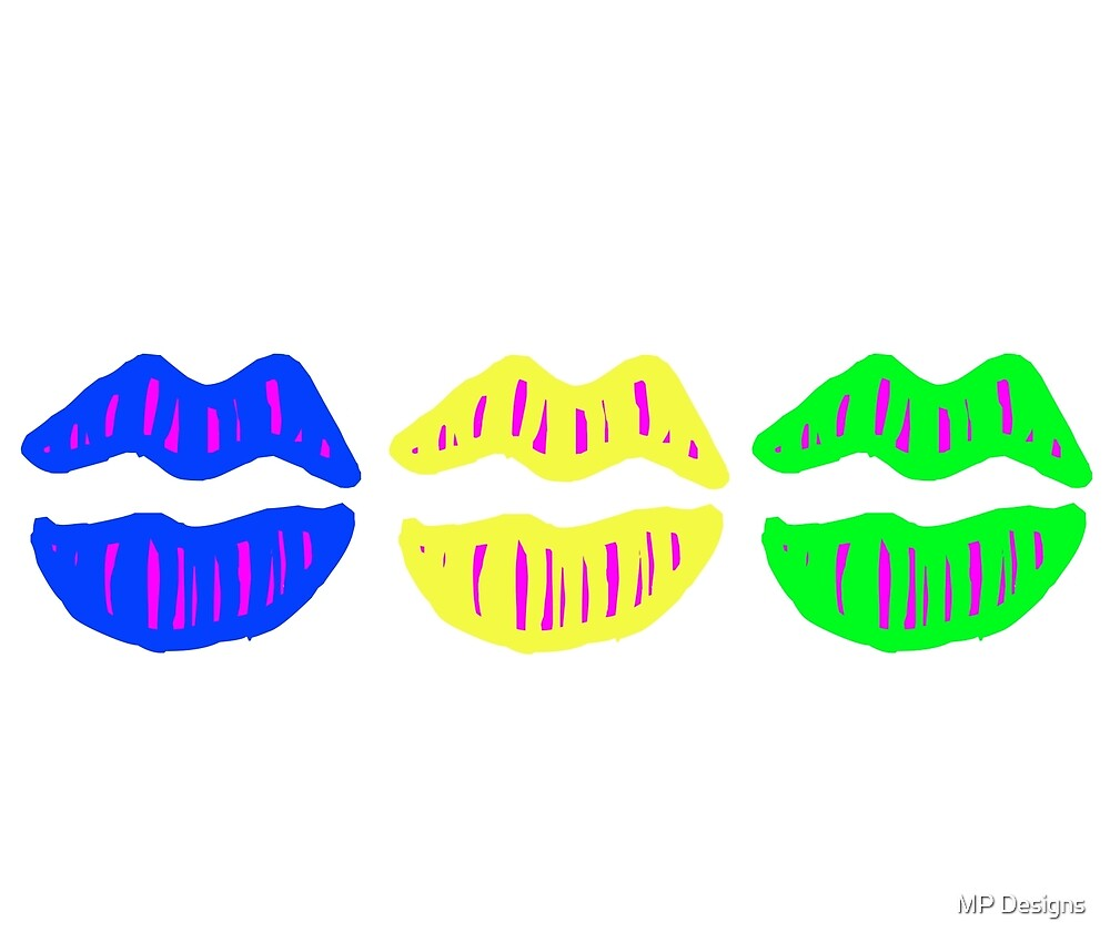 Lips (Neon) by MP Designs