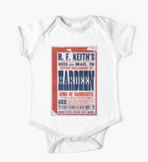 Performing Arts Posters Return engagement of Hardeen king of handcuffs the biggest vaudeville attraction in America 2039 One Piece - Short Sleeve