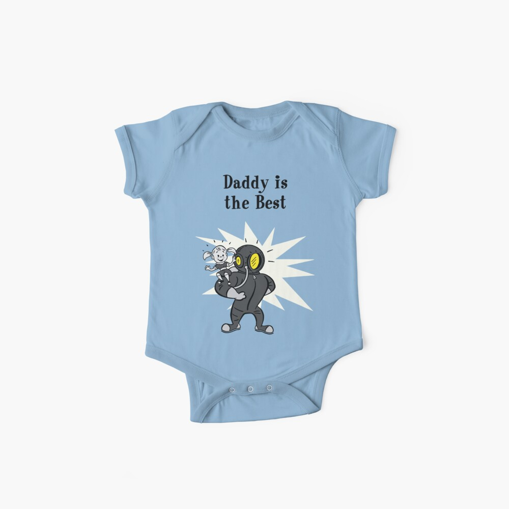 BioShock – Daddy is the Best Poster (Black) Baby One-Piece