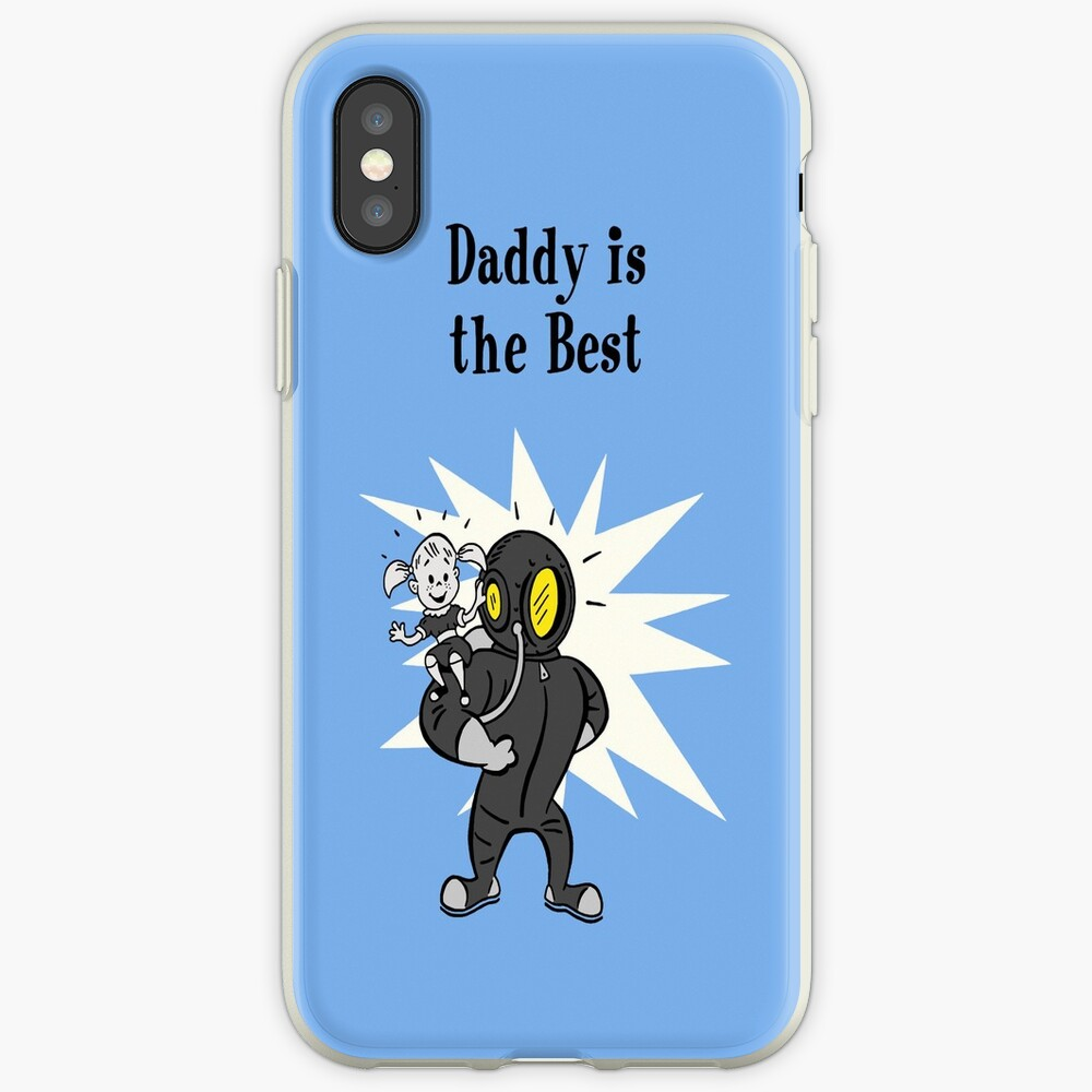 BioShock – Daddy is the Best Poster (Black) iPhone Case & Cover