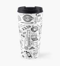 Sherlock Collage (grayscale) Travel Mug