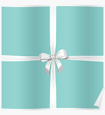 Blue Ribbon Gift Poster