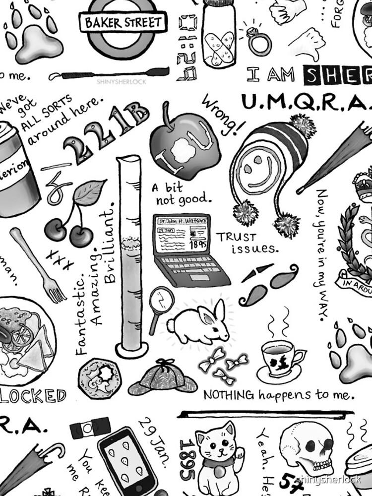 Sherlock Collage (Graustufen) von shinysherlock