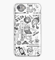 Sherlock Collage (grayscale) iPhone Case/Skin