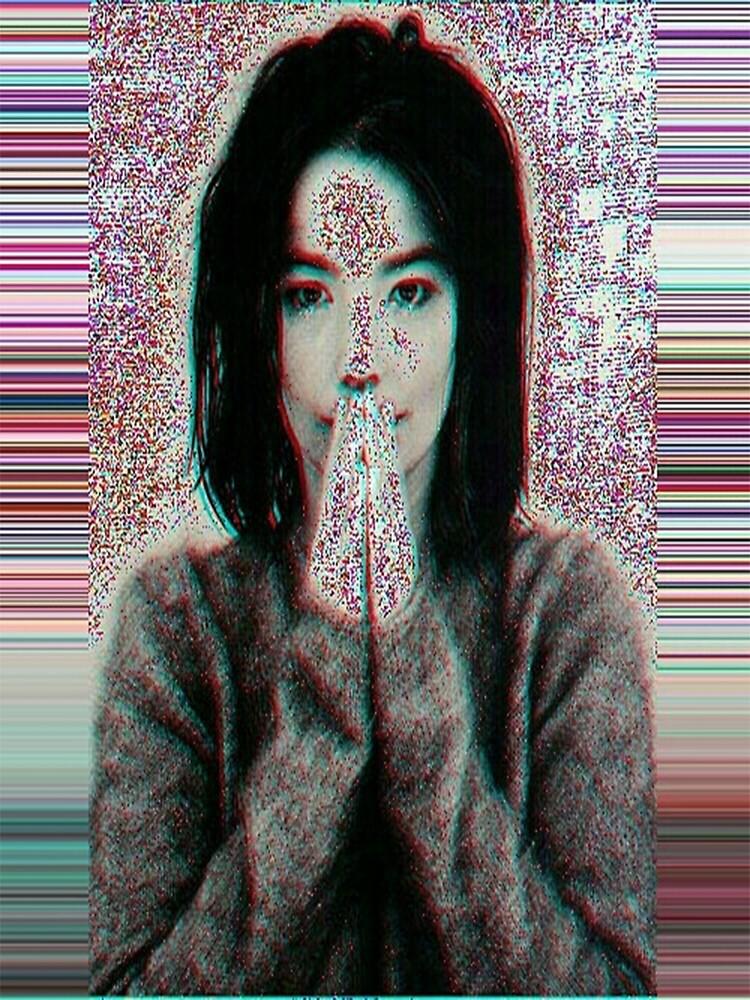 Bjork glitch art by AudetoriLV