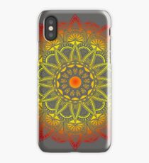 Vivid Fire Watercolor Mandala iPhone Case