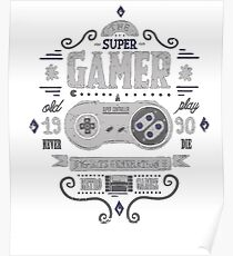 Gamer 16 bits generation Poster