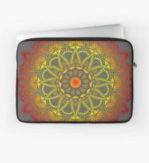 Vivid Fire Watercolor Mandala Laptop Sleeve