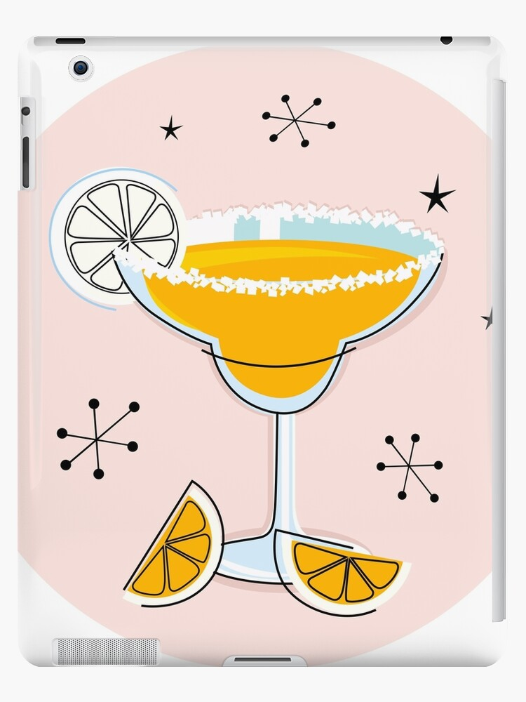 Margarita drink in hand drawn retro style by Bee and Glow Illustrations Shop