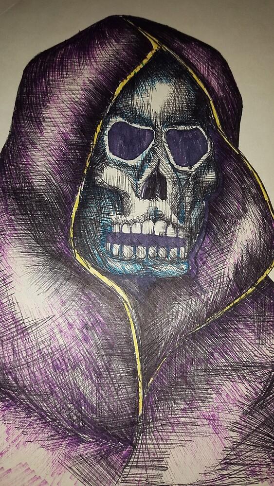 Purple reaper  by KathHanthorneAr