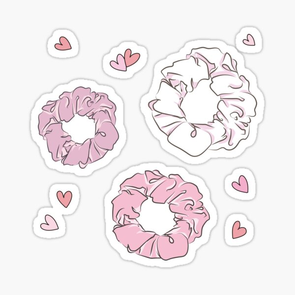 cute hair scrunchie  Sticker