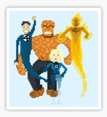 Fantastic Four Pixel Art Sticker