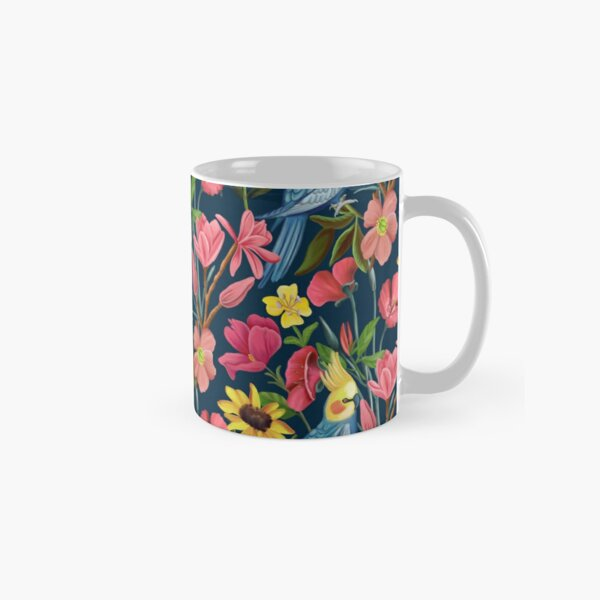 Botanical Garden Blue by Happy People Prints Classic Mug