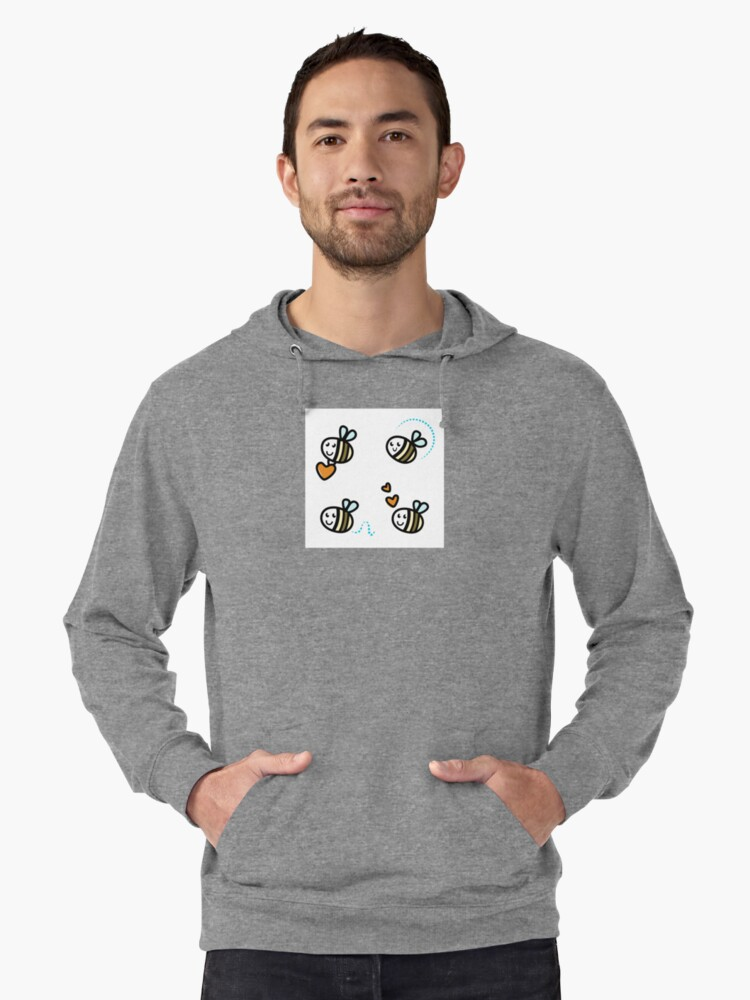 Funny Bee collection. Retro Illustration. Lightweight Hoodie Front