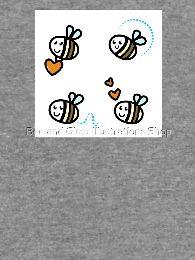 Funny Bee collection. Retro Illustration. by wellnessSisters