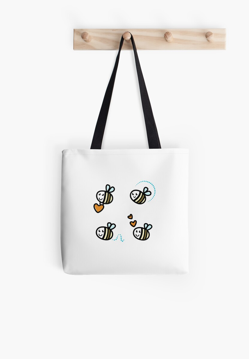 Funny Bee collection. Retro Illustration. by Bee and Glow Illustrations Shop