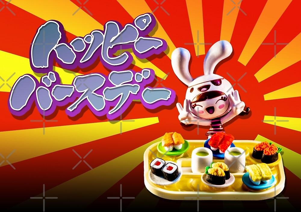 Happy Birthday - Let's have sushi  by lovingkakeart