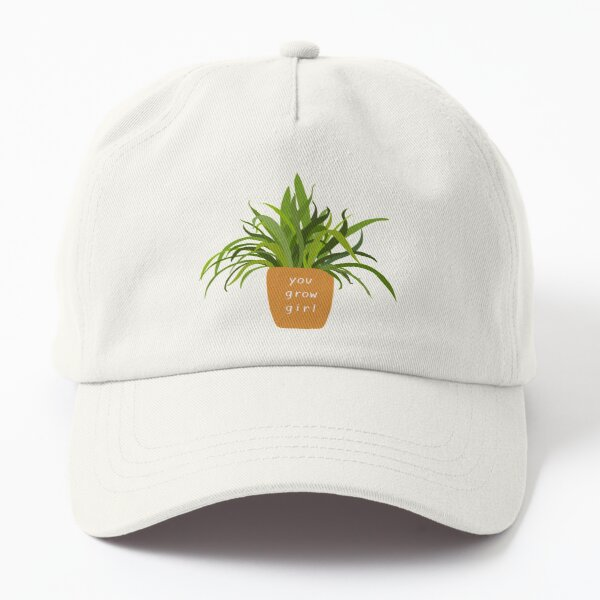 you grow girl! potted plant Dad Hat