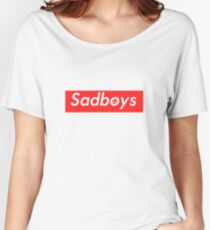 Sadboys Box Logo (L) - SADBOYS & YUNG LEAN Women's Relaxed Fit T-Shirt