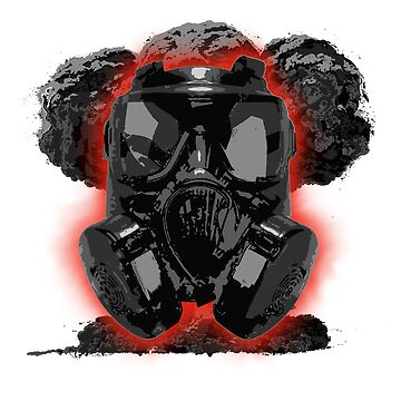 Gas Mask Mushroom Cloud by BoltTheHuman
