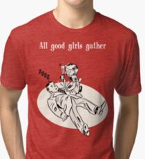 BioShock – All Good Girls Gather Poster (White) Tri-blend T-Shirt
