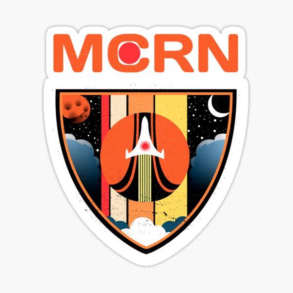 Mars Navy Patch Sticker