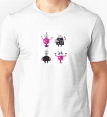 Cute cartoon robot characters T-Shirt