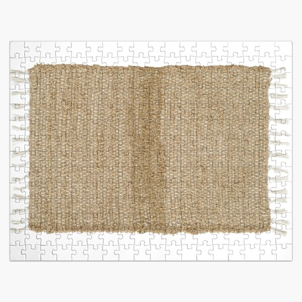 Burlap Natural Chindi/Rag Rug 20x30 Beth's Country Primitive Home Decor Jigsaw Puzzle