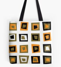 Retro seamless background or pattern with brown squares Tote Bag