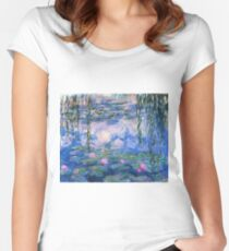 Claude Monet - Water Lilies 1919 Women's Fitted Scoop T-Shirt