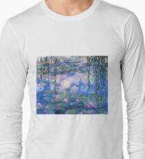 Claude Monet - Water Lilies 1919 Long Sleeve T-Shirt