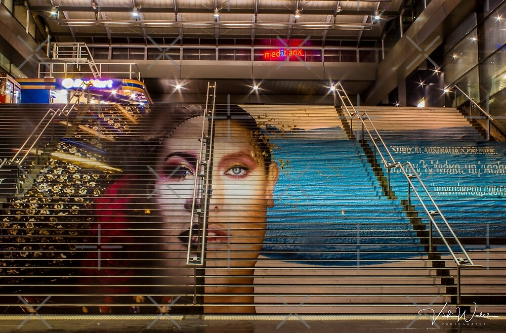 The stairs at Southern Cross Station, Melbourne, Victoria, Australia by Vicki Walsh