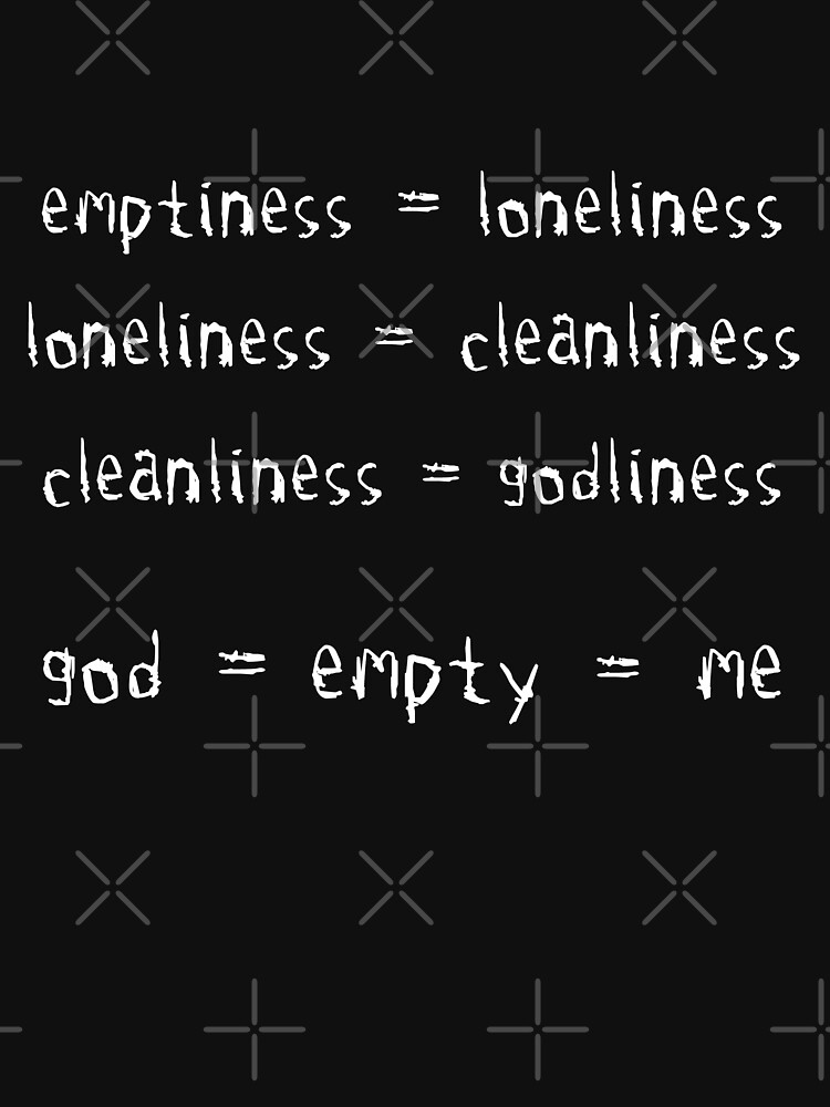 emptiness = loneliness = cleanliness = godliness by ndaqb
