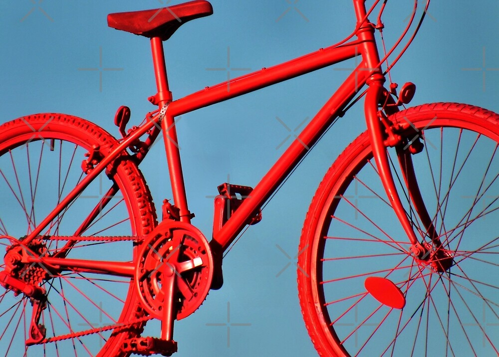 Very Red Bike by Yampimon