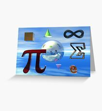 Math Symbols Greeting Card