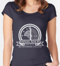Minas Anor Numenorean College Women's Fitted Scoop T-Shirt