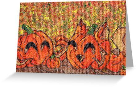 Pumpkin Buddies by KOKeefeArt