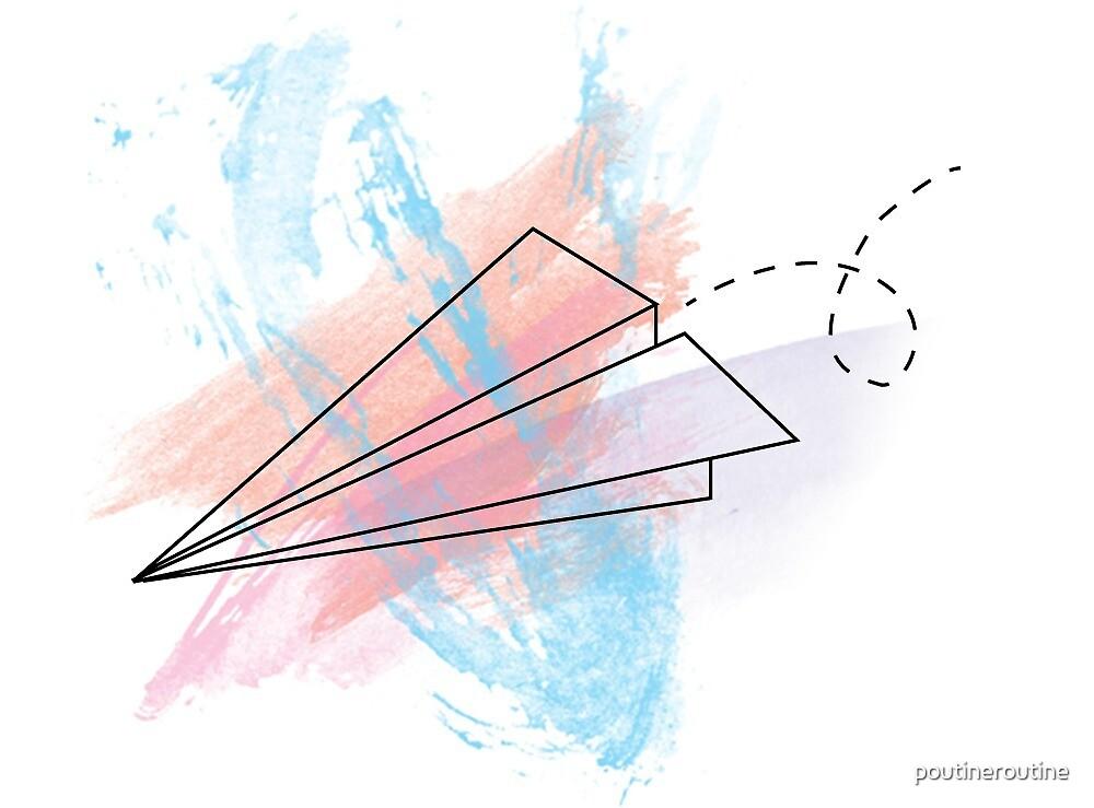 Paper Plane by poutineroutine