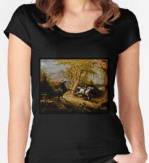 Headless Horseman Chasing Ichabod Crane Women's Fitted Scoop T-Shirt