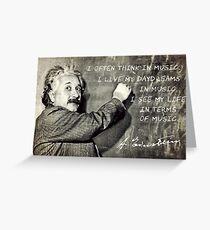 Einstein The Music Lover Greeting Card