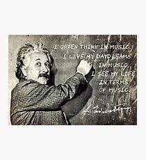 Einstein The Music Lover Photographic Print