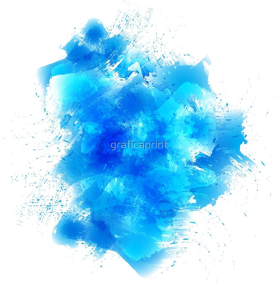 Abstract blue watercolor background by graficaprint