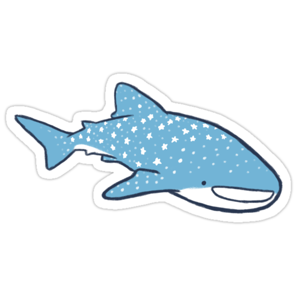 Quot Starry Whale Sharks Light Version Quot Stickers By Soyrwoo