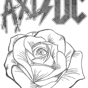 Axl/DC Grey Logo W/ Rose by OhighO76