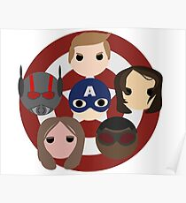 Team Cap Noggins Poster
