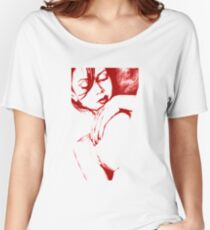 As Heaven Awaits: Red Women's Relaxed Fit T-Shirt
