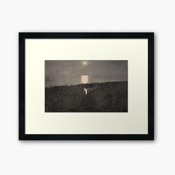 Moonlight Theodor Kittelsen Framed Art Print