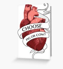 Pig Or Cow Greeting Card