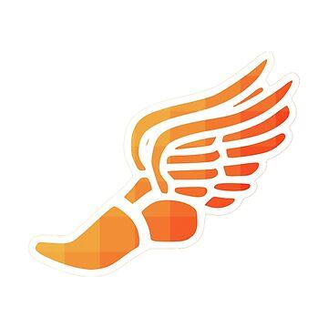 Orange Ombre Track Schuh von hcohen2000